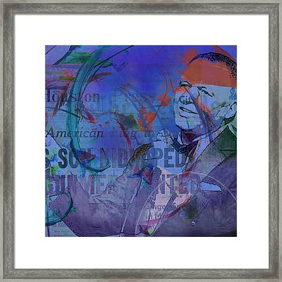 Music Icons - Frank Sinatra Iv Framed Print
