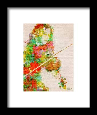 Violinist Framed Prints