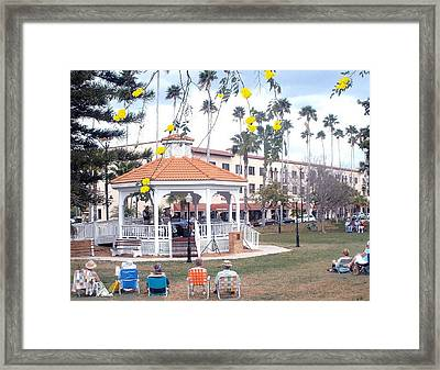 Music In The Park Framed Print by Patrick Keigher