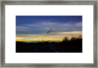 Framed Print featuring the photograph Music In The Sky by Deb Martin-Webster