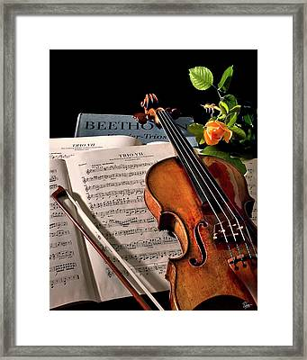 Music Is A Moral Law Framed Print by Endre Balogh