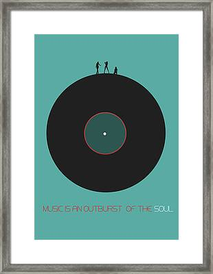Music Is An Outburst Of The Soul Poster Framed Print by Naxart Studio