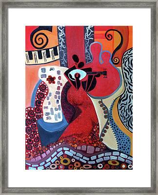 Music Is Love Framed Print by Niki Sands