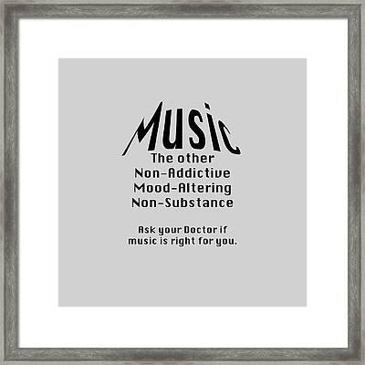 Music Is Right For You 5502.02 Framed Print by M K  Miller