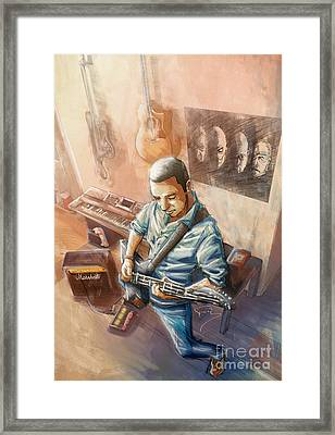 Music Is Sacred Framed Print by Tuan HollaBack