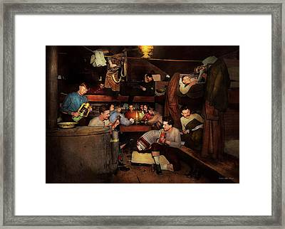 Music - Jam Session 1918 Framed Print by Mike Savad