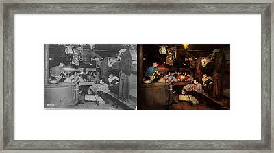 Music - Jam Session 1918 - Side By Side Framed Print by Mike Savad
