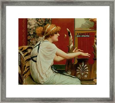 Music Framed Print by John William Godward