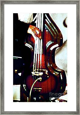 Music Man Bass Violin Framed Print by Linda  Parker