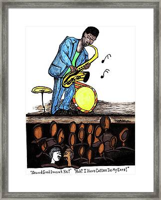 Music Man Cartoon Framed Print