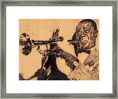 Music Man Framed Print by Robbi  Musser