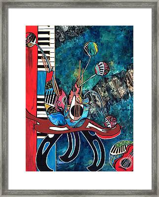 Music Mania Framed Print by Cheryl Ehlers