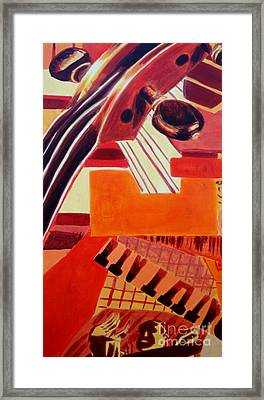 Framed Print featuring the painting Music by Maria Langgle
