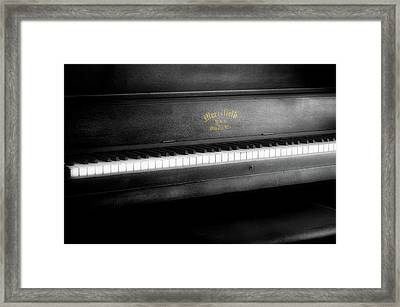 Music Merrifield Vintage Piano Framed Print by Thomas Woolworth