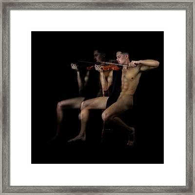 Music Mike  Framed Print