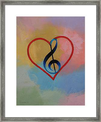 Music Note Framed Print by Michael Creese