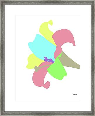 Framed Print featuring the digital art Music Notes 12 by David Bridburg