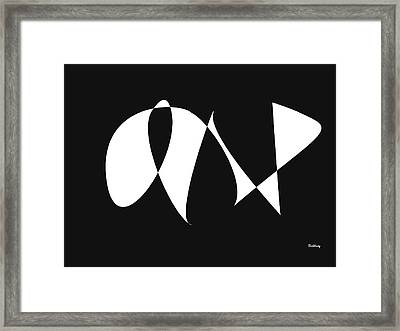 Framed Print featuring the digital art Music Notes 9 by David Bridburg