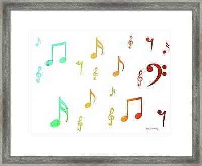 Music Notes Framed Print by Ken Figurski