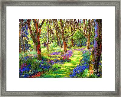Music Of Light, Bluebell Woods Framed Print by Jane Small