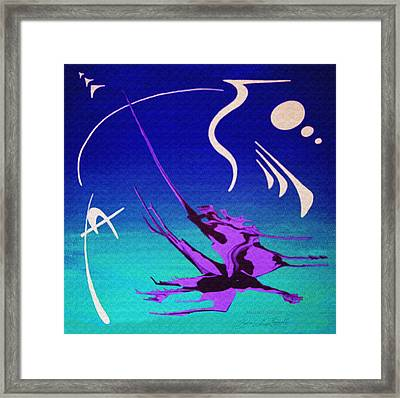 Framed Print featuring the painting Music Of Ojas by Robert G Kernodle