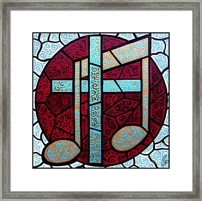 Framed Print featuring the painting Music Of The Cross by Jim Harris