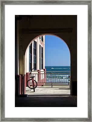 Music Pier Doorway View Framed Print