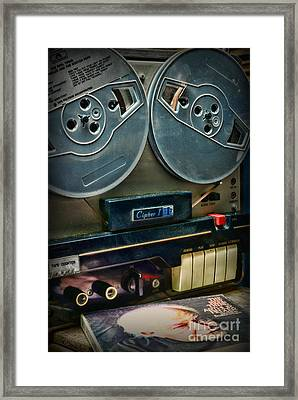 Music- Reel To Reel Tape Deck Framed Print