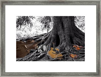 Music Roots Framed Print by Debbie Hall