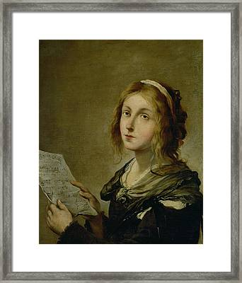 Music Framed Print by Salvator Rosa