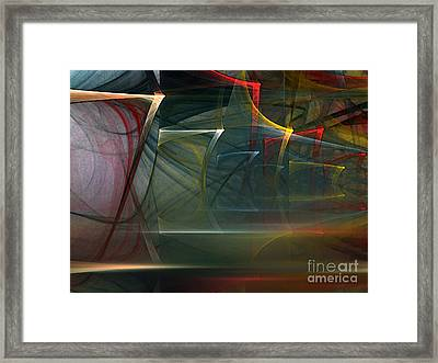 Framed Print featuring the digital art Music Sound by Karin Kuhlmann