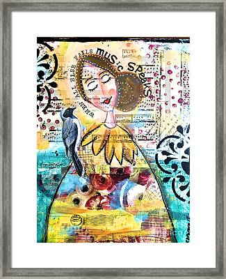 Music Speaks Framed Print