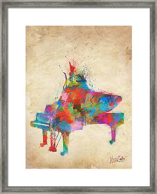 Music Strikes Fire From The Heart Framed Print by Nikki Marie Smith