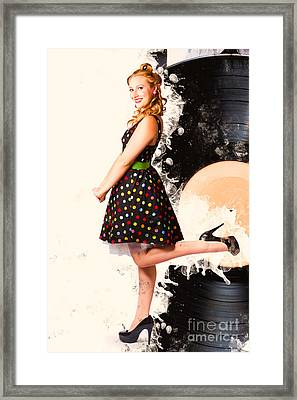 Music Tin Sign Pin-up Framed Print by Jorgo Photography - Wall Art Gallery