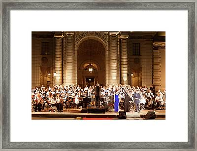 Framed Print featuring the photograph Music Under The Stars - Symphony At Pasadena City Hall California by Ram Vasudev