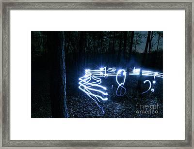 Music Woods Framed Print