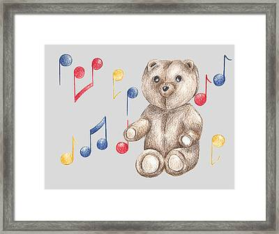 Musical Bear Framed Print