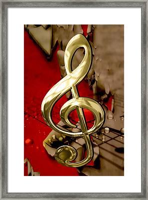 Musical Clef Sheet Music Art Framed Print