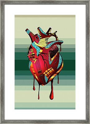 Musical Heart  Framed Print by Kenal Louis