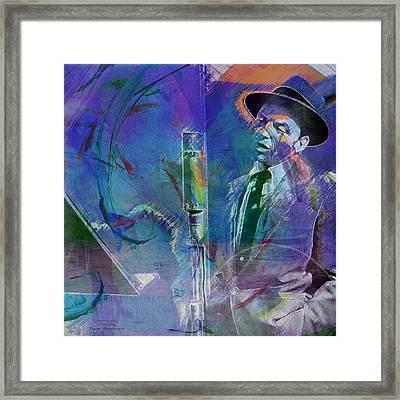 Music Icons - Frank Sinatra I Framed Print by Joost Hogervorst