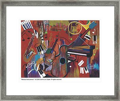 Musical Instruments 1 Framed Print by Everna Taylor