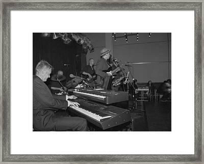 Musical Jazz Band Framed Print