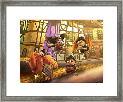 Musical Mayhem Framed Print