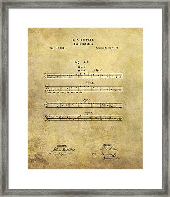 Musical Notation Patent Framed Print by Dan Sproul
