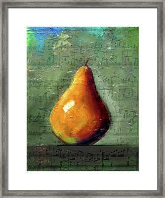 Musical Pear Framed Print by Nancy Merkle