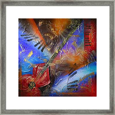 Musical Textures Series Framed Print by Andrea Tharin