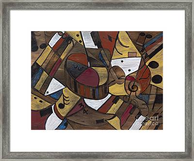 Musicality In Brown Framed Print