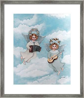 Musician Angels Framed Print by Graciela Bello