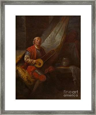 Musician In A Russian Costume Framed Print by MotionAge Designs