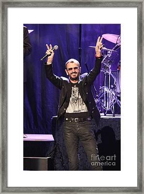 Musician Ringo Starr  Framed Print